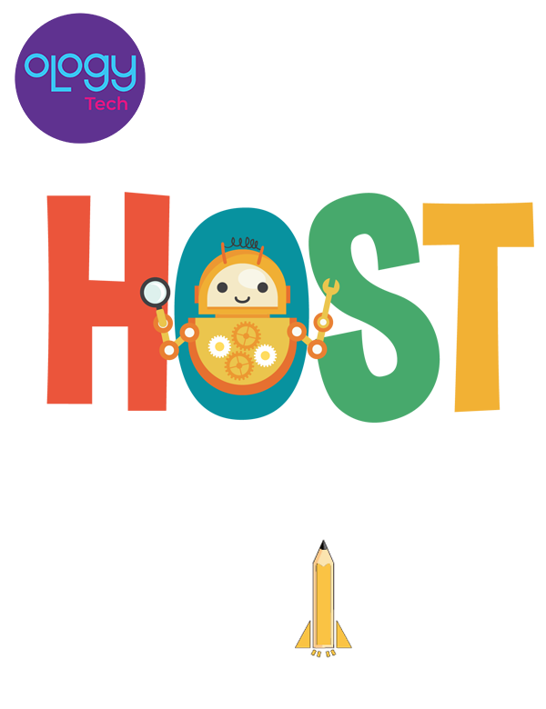 Ology Tech presents HOST powered by infinite engineers logo